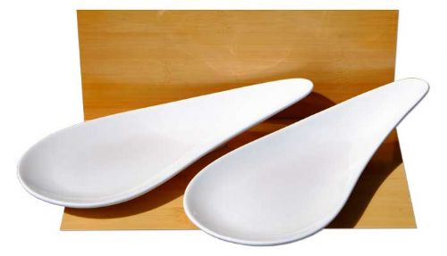 White Medium sized Tear Drop dish x 2 ceramic dishes - GOTO